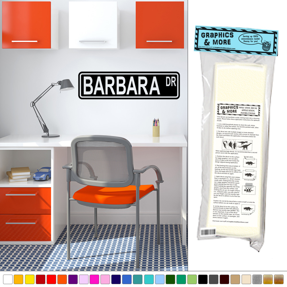 Barbara Street Sign Wall Vinyl Art