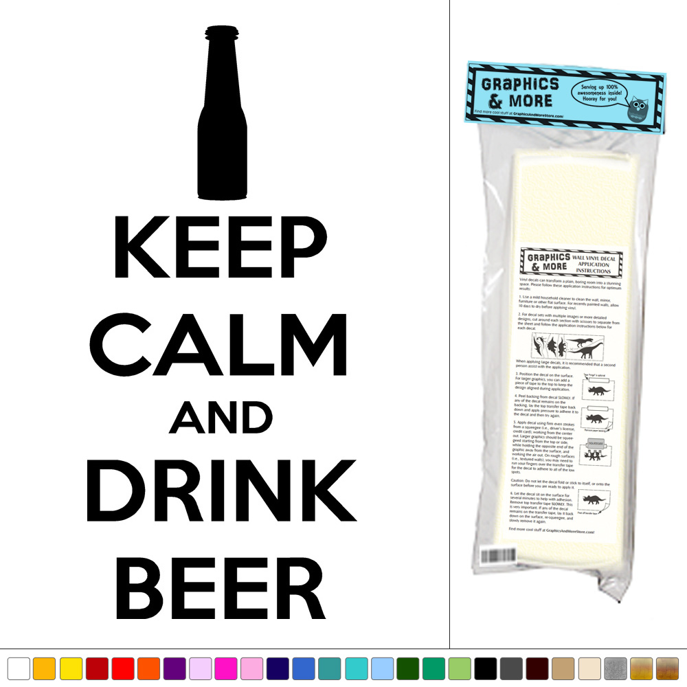Keep-Calm-And-Drink-Beer-Vinyl-Sticker-Decal-Wall-Art-Decor